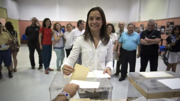 La alcaldesa de Getafe, Sara Hernández, en una imagen de archivo