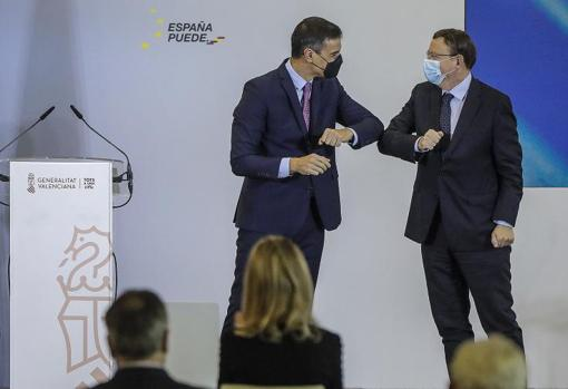 Pedro Sánchez y Ximo Puig, en un acto público
