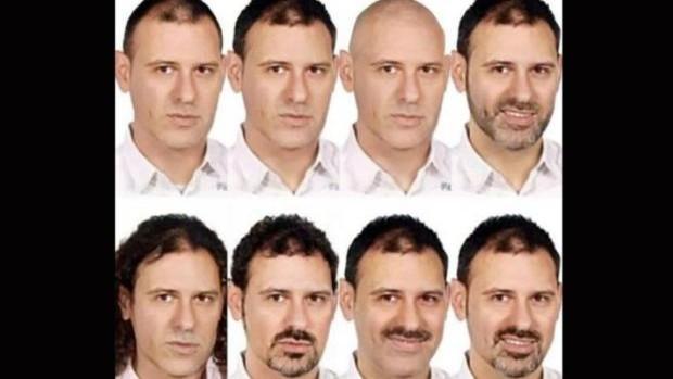 Fotocomposición con las posibles caracterizaciones del fugado
