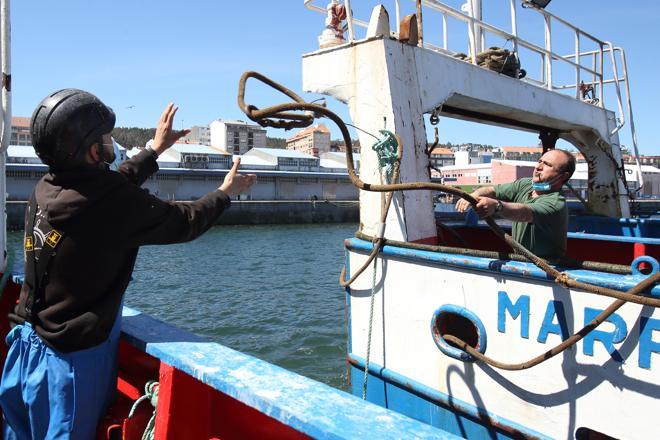 The Afanuda II trawler, in the Galician municipality of Ribeira