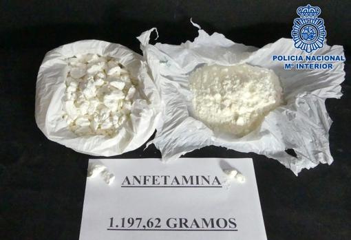 1,197 grams of amphetamine were seized.