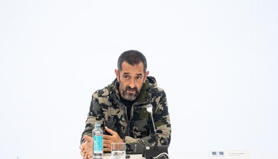 Imagen del doctor Pedro Cavadas tomada durante una compareencia en Valencia