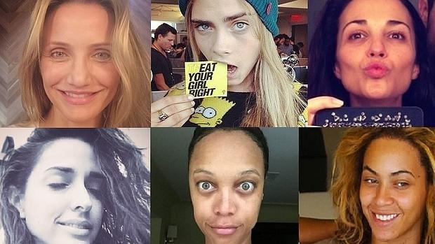 Famosas sin maquillar