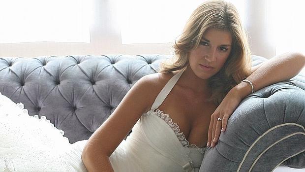 La joven Rossi, en una imagen promocional de una firma de novias