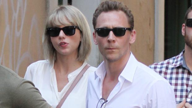 Taylor Swift y Tom Hiddleston en su visita a Roma, Italia