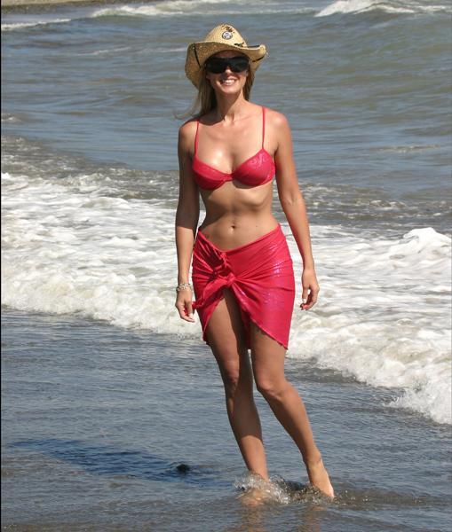 La presentadora Anne Igartiburu durante unas vacaciones en Marbella