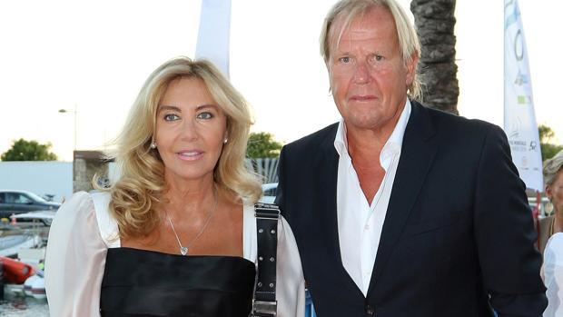 Norma Duval y Matthias Kühn en el 30 aniversario del puerto de Mallorca
