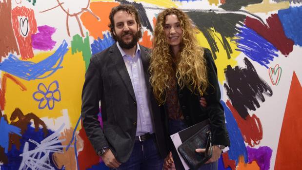 Borja Thyssen y su mujer, Blanca Cuesta, en la Feria Arco de Madrid el pasado mes de febrero