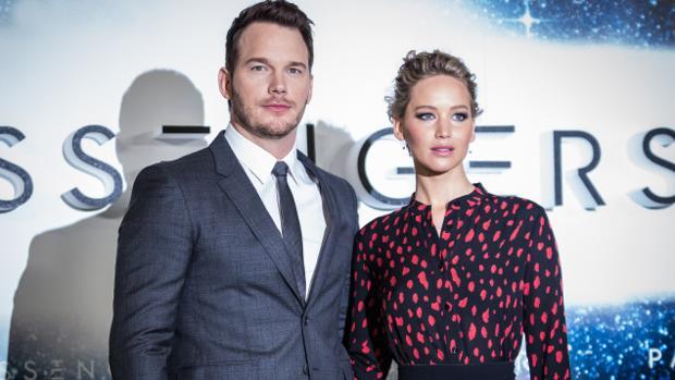 Chris Pratt y Jennifer Lawrence