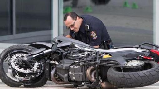La motocicleta que provocó la muerte de la especialista