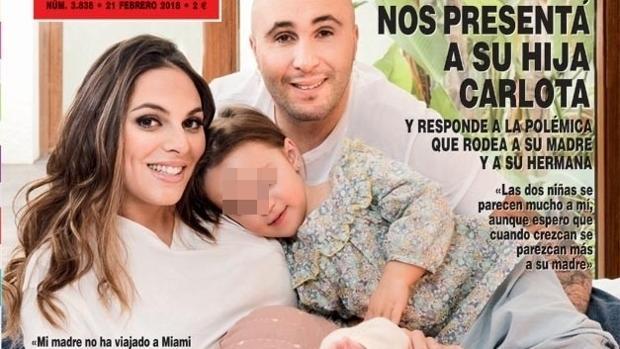 Kiko Rivera junto a su mujer y sus dos hijas