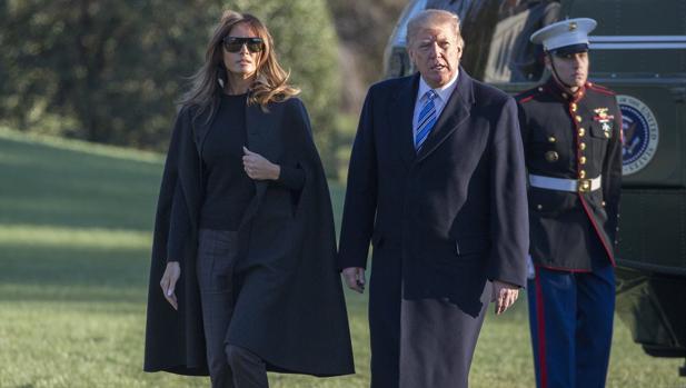 Los Trump a su llegada a Washington este fin de semana