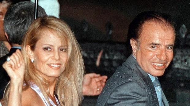 Carlos Menem y Cecilia Bolocco