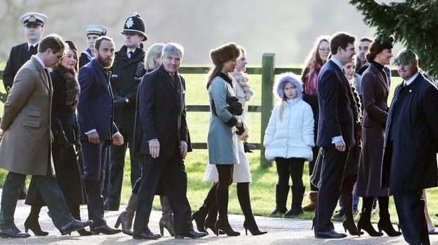 Algunos miembros de la Familia Real británica