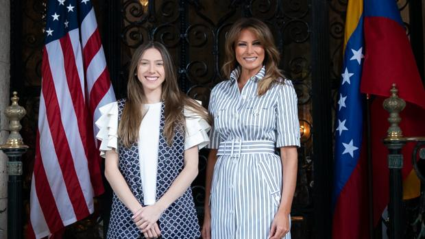 Melania Trump abre a Fabiana Rosales las puertas de Mar-a-Lago