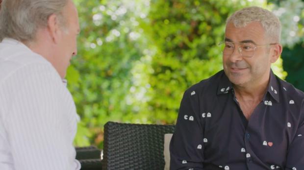 Jorge Javier y Berítín Osborne durante una entrevista en «Mi Casa en la Tuya»