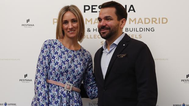 Beatriz Tajuelo y Pedro Carrillo Núñez, director y estilista de Calzados Franjul