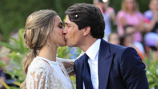 María Pombo y Pablo Castellano el día de su boda.