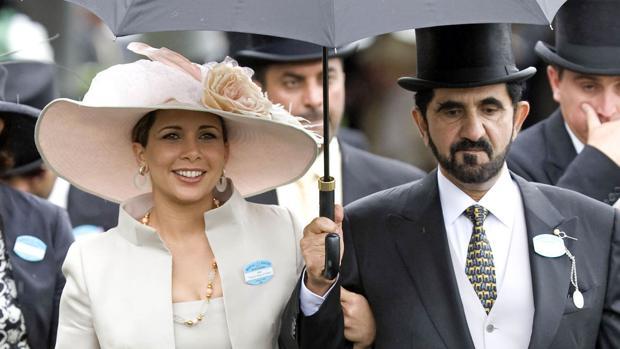 Haya de Jordania y su marido, el emir de Dubai