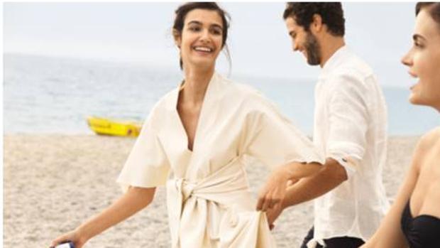 Vestido cruzado del anuncio de Acqua di Parma