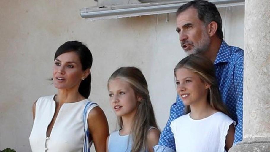 Los Reyes y sus hijas en Son Marroig