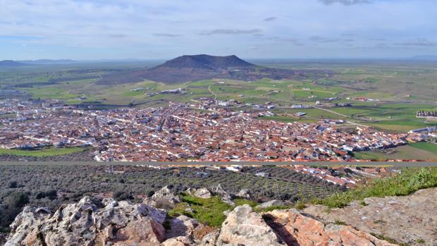 Vista panorámica de Cabeza del Buey (Badajoz)