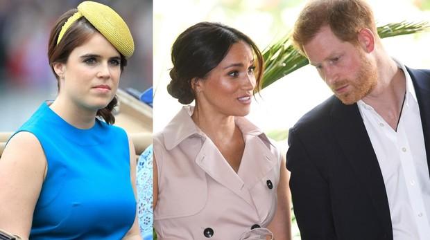 Beatriz de York y el Príncipe Harry y Meghan Markle