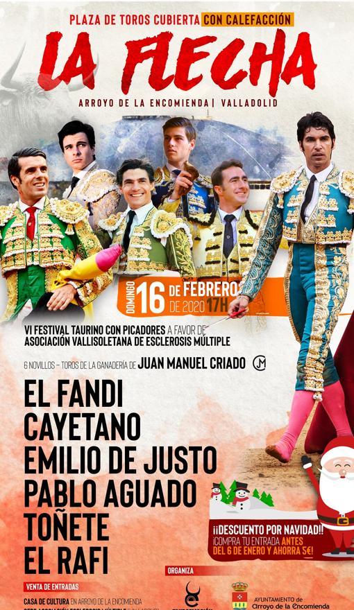 El cartel del festival taurino de La Flecha