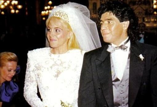 Maradona y Claudia Villafañe