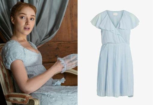 Light blue chiffon flowy dress, by Via for Zalando.  Price: € 49.90