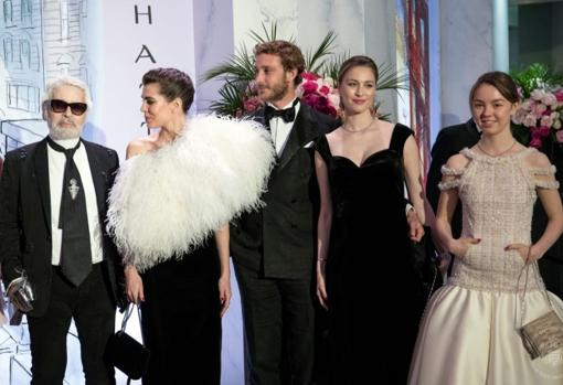 Beatrice at the 2018 Rose Ball, the last one attended by Karl Lagerfeld