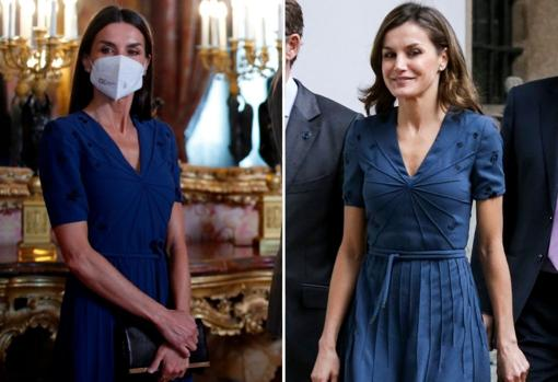 From left to right, Letizia in June and in 2018