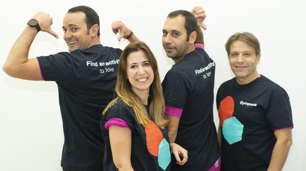 Los participantes en el Reto Gympass, María, Nacho, Juan Carlos y Óscar