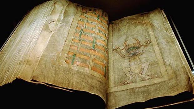 Imagen del 'Codex Gigas' en 1906