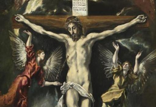 """""""Jesús clavado en la cruz"""". El Greco"""