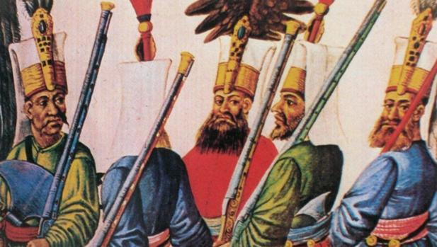 Jenízaros en la batalla de Viena.