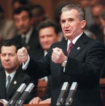 Ceaucescu, el 24 de noviembre de 1989, en el Congreso