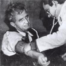 Ceaucescu, tras ser detenido en 1989