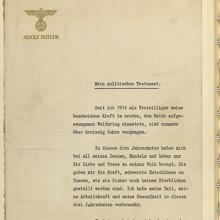 Testamento de Adolf Hitler