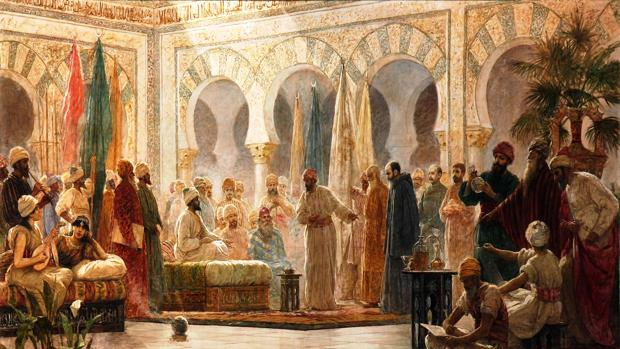Recepción de embajadores de Bizancio en Medina Azahara, recibidos por Abderramán III (Dionisio Baixeras)