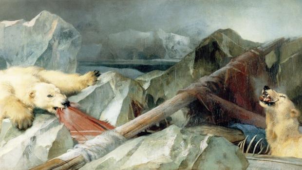 Cuadro de Edwin Landseer titulado «Man Proposes, God Disposes» (1864)