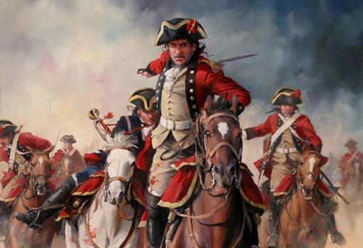 «Santiago y cierra España». Pintura de Augusto Ferrer-Dalmau sobre el Regimiento España 1793, Guerra del Rosellón