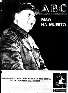 Portada de la edición sevillana del 10 de septiembre de 1976