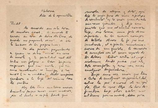 Facsimil de las primeras hojas de la carta