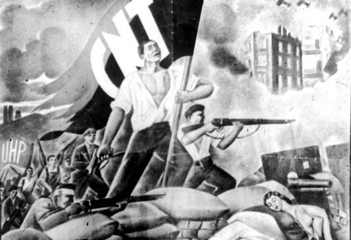 Cartel de la CNT duranet la Segunda República