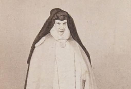 Retrato fotográfico de Sor Patrocinio, de Jean Laurent.