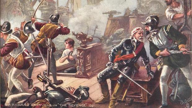 Así aplastó España el navío más temible de la Royal Navy: la gesta que Inglaterra quiere que olvidemos Grenville-revenge-1591-kbe--620x349@abc