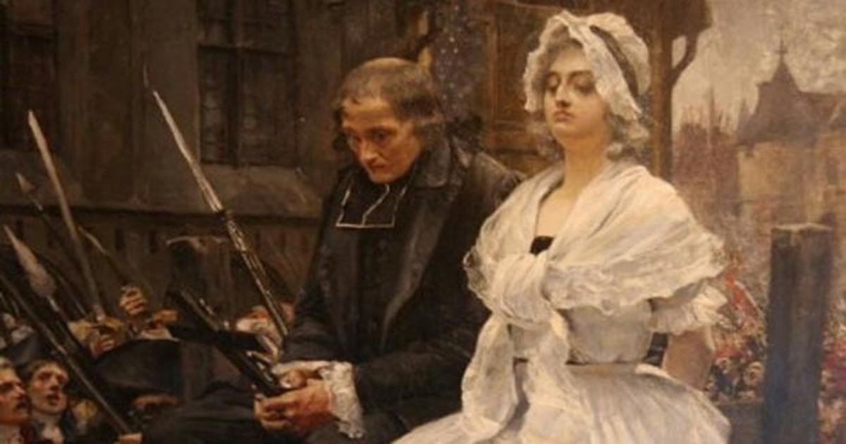 Cuadro de María Antonieta antes de ser decapitada