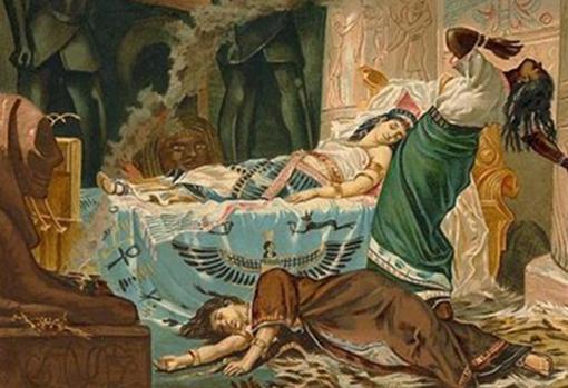 Representación de la muerte de Cleopatra