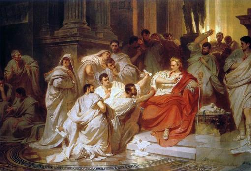 Muerte de César, de Carl Theodor von Piloty.